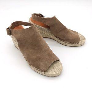 Gap Leather Wedge Heels Peep Toe 11